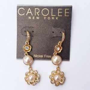 ❗CAROLEE of NEW YORK CRYSTAL PEARL EARRINGS❗